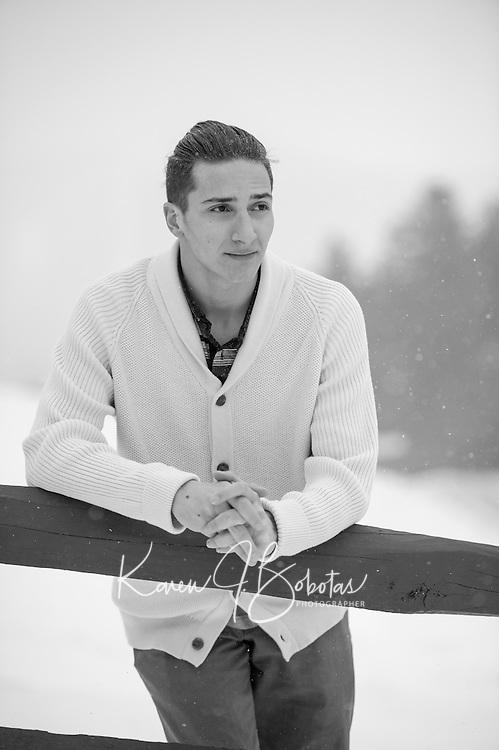 Zach D senior portrait session.  ©2016 Karen Bobotas Photographer