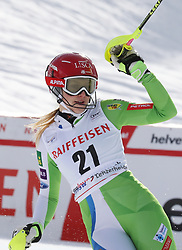 26.01.2018, Lenzerheide, SUI, FIS Weltcup Ski Alpin, Lenzerheide, Alpine Kombination, Damen, im Bild Bucik, Ana (SLO, 3. Placed) // Ana Bucik from Slovenia reacts after the Slalom competition for the ladie's Alpine combination of the FIS ski alpine world cup in in Lenzerheide, Austria on 2018/01/26. EXPA Pictures © 2018, PhotoCredit: EXPA/ Sammy Minkoff<br /> <br /> *****ATTENTION - OUT of GER*****