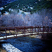 Bridge over the Logan River in Logan Canyon east of Logan, Utah Nov. 17, 2010.