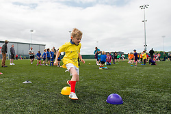A young boy races through the cones during the Bristol Sport Youth Festival - Photo mandatory by-line: Dougie Allward/JMP - Mobile: 07966 386802 - 06/06/2015 - SPORT - Multi-Sport - Bristol - SGS Wise Campus - Bristol Sport Festival Of Youth Sport - Festival Of Youth