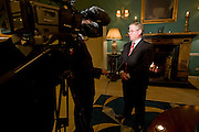 18/1/2008.Labour Party leader Eamon Gilmore pictured speaking to RTE yesterday evening about the Taoiseach Bertie Ahern at the Faithleg House Hotel..Picture Dylan Vaughan.