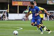 AFC Wimbledon striker Andy Barcham (17) on the attack during the Pre-Season Friendly match between AFC Wimbledon and Burton Albion at the Cherry Red Records Stadium, Kingston, England on 21 July 2017. Photo by Matthew Redman.