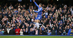 LONDON, ENGLAND - Sunday, January 28, 2007: Chelsea's Andriy Shevchenko celebrates scoring the first goal against Nottingham Forest during the FA Cup 4th Round match at Stamford Bridge. Chelsea won 3-0. (Pic by Chris Ratcliffe/Propaganda)
