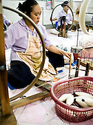 Doi Tung Cottage Industries weaving workshop.