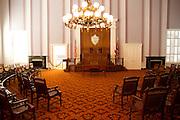 Interior of the Alabama state capitol legislative chamber, Montgomery, AL, USA