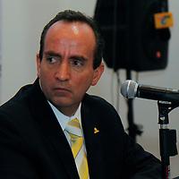 TOLUCA, México.- Edgar Cerecero López, presidente de la Confederación Patronal (COPARMEX) afirmó que en el Estado de México hace falta mucho camino por recorrer en materia de creación de empleos. Agencia MVT / Crisanta Espinosa. (DIGITAL)