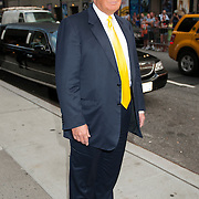 Donald Trump outside the Ed Sullivan Theater for his appearance on The Late Show with David Letterman in New York City.
