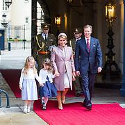 LUX/Luxembug/20180523 - Staatbezoek Luxemburg 2018 dag 1, aankomst Groothertog Henri en Groothertogin Maria Terea en kinderen