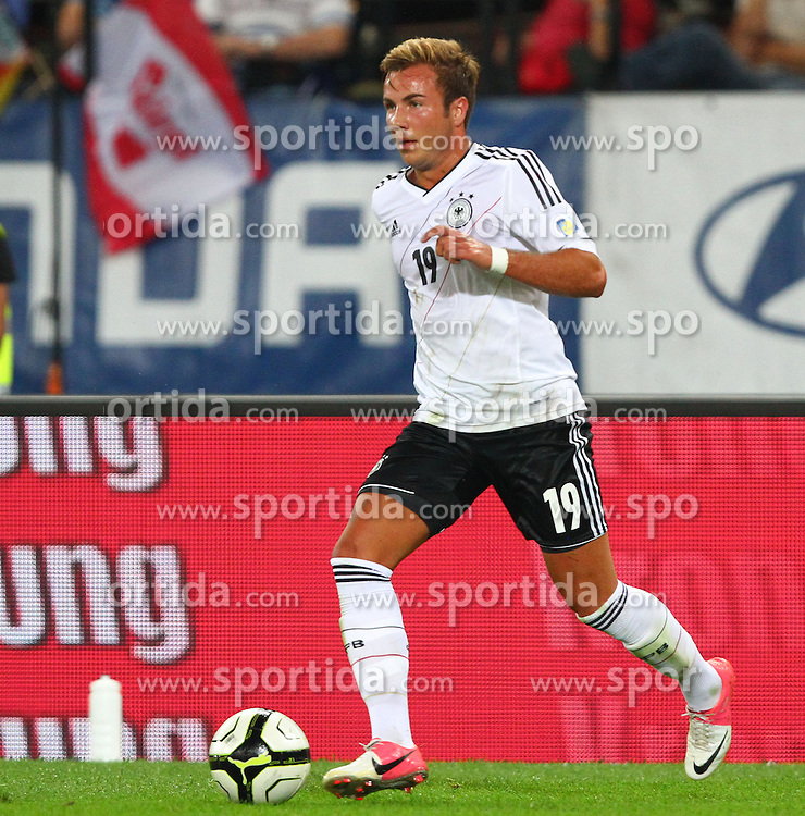 11.09.2012, Ernst Happel Stadion, Wien, AUT, FIFA WM Qualifikation, Oesterreich vs Deutschland, im Bild Mario Goetze, (GER, #19)  // during the FIFA World Cup Qualifier Match between Austria (AUT) and Germany (GER) at the Ernst Happel Stadion, Vienna, Austria on 2012/09/11. EXPA Pictures © 2012, PhotoCredit: EXPA/ Thomas Haumer
