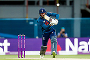 England ODI batsman James Vince defends the delivery  during the 3rd Royal London ODI match between England and India at Headingley Stadium, Headingley, United Kingdom on 17 July 2018. Picture by Simon Davies.