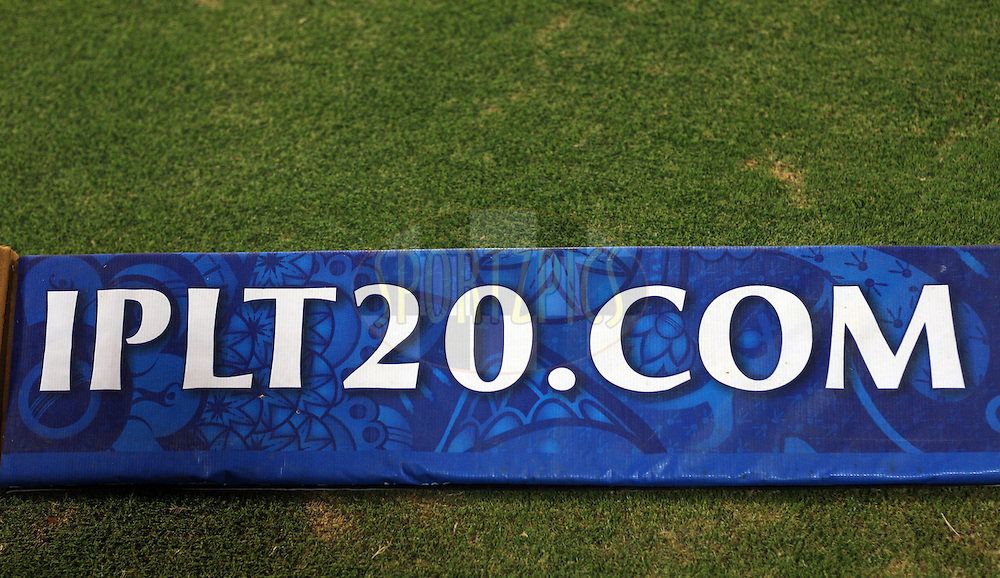 Branding boundary ropes during match 68 of the the Indian Premier League ( IPL) 2012  between The Deccan Chargers and the Rajasthan Royals held at the Rajiv Gandhi Cricket Stadium, Hyderabad on the 18th May 2012..Photo by Jacques Rossouw/IPL/SPORTZPICS