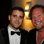 NLD/Den Haag/20091106 - Uitreiking Mercedes-Benz Dutch Fashion Awards 2009, Bas van Schaik en partner Joel Davans