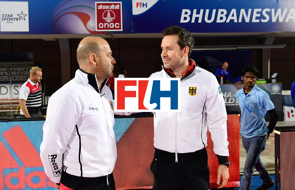 Odisha Men's Hockey World League Final Bhubaneswar 2017<br /> Match id:10<br /> India v Germany<br /> Foto: Eric Verboom (l) and coach Stefan Kermas (Ger) <br /> WORLDSPORTPICS COPYRIGHT FRANK UIJLENBROEK