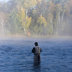 Fly-fishing near Moosehead Lake Maine USA (MR)
