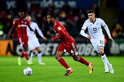 Denis Odoi of Fulham is marked by Kristoffer Peterson of Swansea City - Mandatory by-line: Ryan Hiscott/JMP - 29/11/2019 - FOOTBALL - Liberty Stadium - Swansea, England - Swansea City v Fulham - Sky Bet Championship