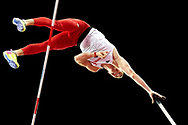 Great Britain, London - 2017 August 08: Piotr Lisek (OSOT Szczecin) of Poland competes in men's pole vault final during IAAF World Championships London 2017 Day 5 at London Stadium on August 08, 2017 in London, Great Britain.<br /> <br /> Mandatory credit:<br /> Photo by © Adam Nurkiewicz<br /> <br /> Adam Nurkiewicz declares that he has no rights to the image of people at the photographs of his authorship.<br /> <br /> Picture also available in RAW (NEF) or TIFF format on special request.<br /> <br /> Any editorial, commercial or promotional use requires written permission from the author of image.
