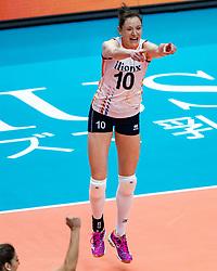 03-10-2018 JPN: World Championship Volleyball Women day 6, Yokohama<br /> Netherlands - Mexico 3-0 / Lonneke Sloetjes #10 of Netherlands
