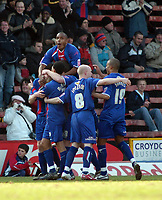 Photo: Kevin Poolman.<br />Crystal Palace v Ipswich Town. Coca Cola Championship. 18/03/2006. <br />Crystal Palace players celebrate their first goal.
