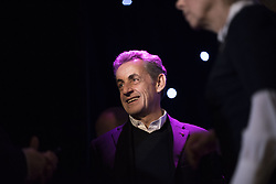 Former French President Nicolas Sarkozy before the inauguration of Bruni's wax sculpture on December 17, 2018 at the Musee Grevin wax museum in Paris. Photo by ABACAPRESS.COM