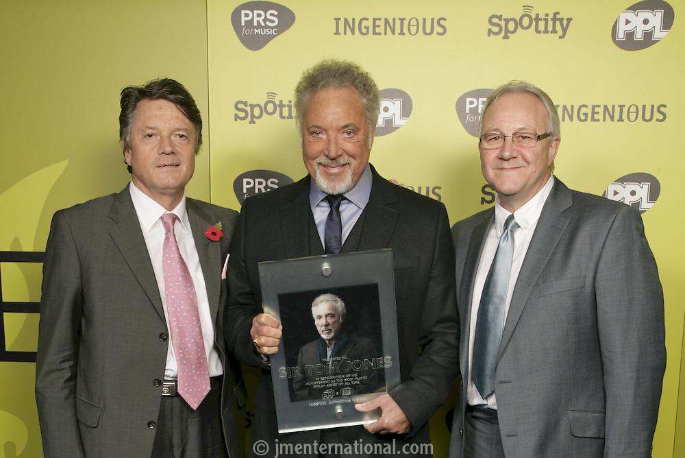 Fran Nevrkla (Chairman & CEO, PPL), Sir Tom jones and