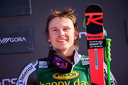 March 9, 2019 - Kranjska Gora, Kranjska Gora, Slovenia - Henrik Kristoffersen of Norway celebrating his victory at the Audi FIS Ski World Cup Vitranc on March 8, 2019 in Kranjska Gora, Slovenia. (Credit Image: © Rok Rakun/Pacific Press via ZUMA Wire)