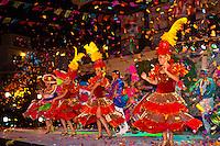 Mexican dancers, Folkloric performance at the Plaza Machado at night, Old Town, Mazatlan, Sinaloa, Mexico