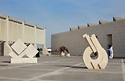 Sculpture courtyard at the Bahrain National Museum, designed by Krohn and Hartvig Rasmussen, inaugurated December 1988 by Amir Shaikh Isa Bin Salman Al-Khalifa, in Manama, Bahrain. The museum houses cultural and archaeological collections covering 6000 years of history, with rooms entitled Burial Mounds, Dilmun, Tylos and Islam, Customs and Traditions, Traditional Trades and Crafts, and Documents and Manuscripts. Picture by Manuel Cohen