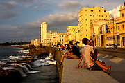 El Malecon waterway in Havana, Cuba, is a place many Cubans go to get away from the pressures of daily life in a communist country.
