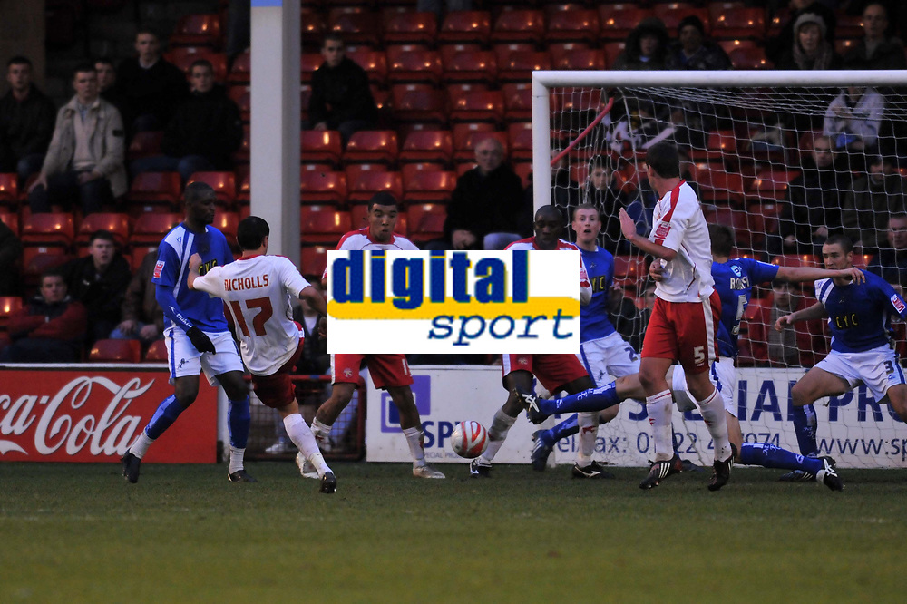 Photo: Tony Oudot/Richard Lane Photography. Walsall v Milwall. Coca-Cola Football League One. 13/12/2008. <br /> Alex Nicholls of Walsall scores their first goal