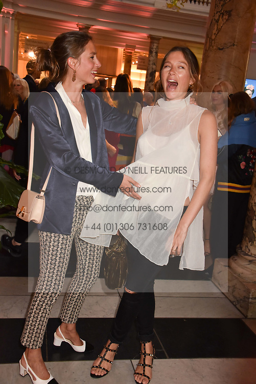 """Sisters Quentin Jones and Jemima Goldsmith at the opening of """"Frida Kahlo: Making Her Self Up"""" Exhibition at the V&A Museum, London England. 13 June 2018."""