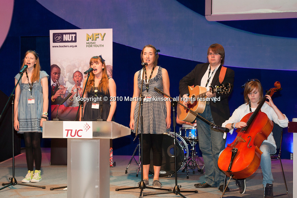 The Blue Ribbons performing at the TUC Conference 2010.