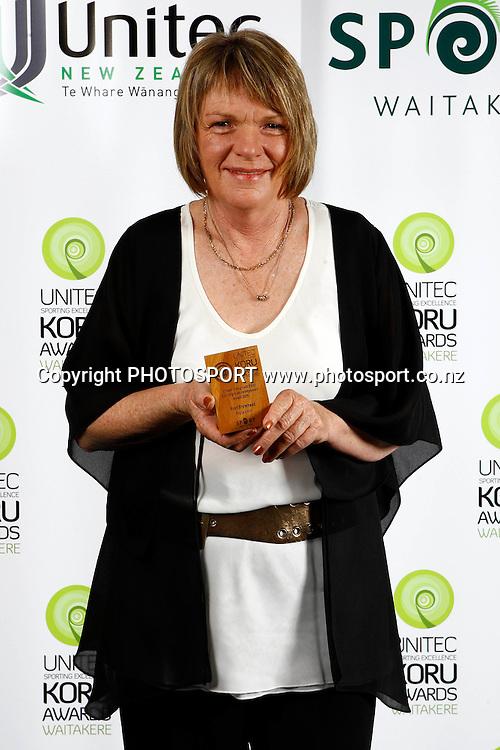 Fran Bromhead, Unitec, Waitakere Sporting Excellence, Koru Awards. Genesis Lounge, Trusts Stadium, Waitakere City, Auckland, 27 November 2009. Photo: William Booth/PHOTOSPORT