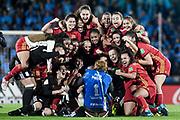 20181201/ Javier Calvelo - adhocFOTOS/ URUGUAY/ MONTEVIDEO/ Estadio Charrua/ Final de la Copa Mundial Femenina Sub-17 de la FIFA entre Espa&ntilde;a y Mexico. Espa&ntilde;a es campeona al ganar la final de Uruguay 2018 a M&eacute;xico por 2-1 en Montevideo y se convirti&oacute; en la primera selecci&oacute;n de su pa&iacute;s en ganar una competici&oacute;n femenina de la FIFA.<br /> En la foto:  Espa&ntilde;a es campeona de la Copa Mundial Femenina Sub-17 de la FIFA en el Estadio Charrua de Montevideo. Foto: Javier Calvelo /  adhocFOTOS