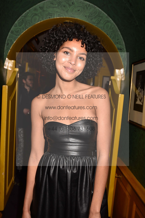 Musician Arlissa at the Annabel's Bright Young Things Party held at Annabel's, 44 Berkeley Square, London England. 16 February 2017.