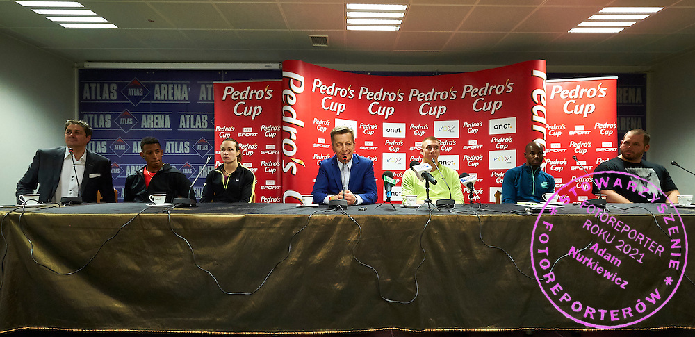 (C) Krzysztof Klimczak President Board of Strauss Cafe Poland while press conference after athletics meeting Pedro's Cup at Atlas Arena in Lodz, Poland.<br /> <br /> Poland, Lodz, February 17, 2015<br /> <br /> Picture also available in RAW (NEF) or TIFF format on special request.<br /> <br /> For editorial use only. Any commercial or promotional use requires permission.<br /> <br /> Adam Nurkiewicz declares that he has no rights to the image of people at the photographs of his authorship.<br /> <br /> Mandatory credit:<br /> Photo by &copy; Adam Nurkiewicz / Mediasport
