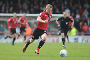 Morecambe Forward, Adam Campbell (10)  during the EFL Sky Bet League 2 match between Morecambe and Barnet at the Globe Arena, Morecambe, England on 28 April 2018. Picture by Mark Pollitt.