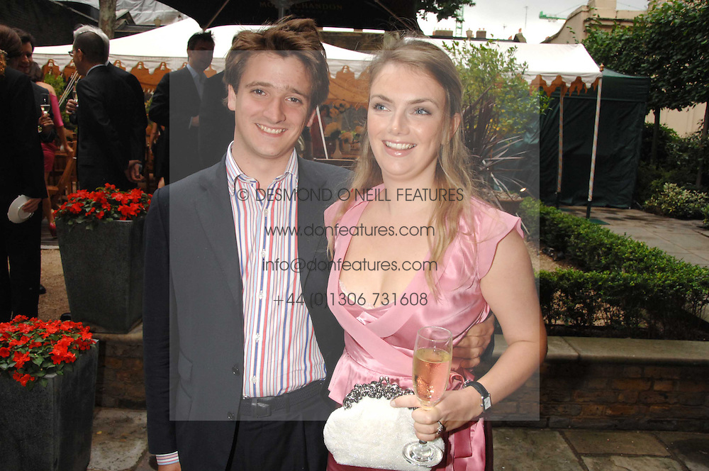 CHARLES &amp; LADY SYBILLA HART at the Tatler magazine Summer Party, Home House, Portman Square, London W1 on 27th June 2007.<br />