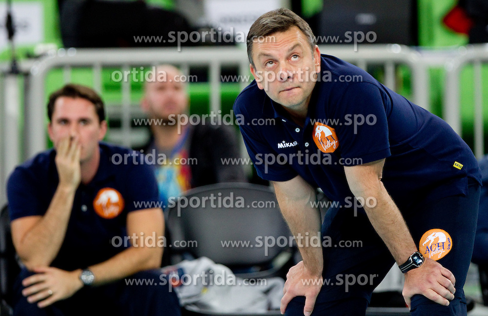 Igor Kolakovic, head coach of ACH during volleyball match between ACH Volley LJUBLJANA and Budvanska Rivijera BUDVA.of 2012 CEV Volleyball Champions League, Men, League Round in Pool F, 2nd Leg, on October 26, 2011, in Arena Stozice, Ljubljana, Slovenia.  ACH Volley defeated Budvanska Rivijera 3-2. (Photo by Vid Ponikvar / Sportida)