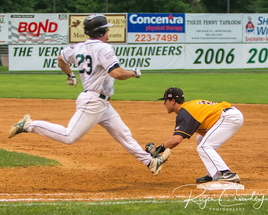 Vermont Mountaineer defeat North Adams Stepplecats 5-4 at Montpelier Recreation Field.
