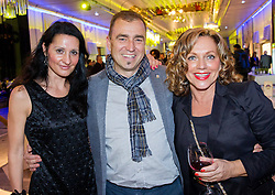 Ursula Majcen, Ervin Curlic and Irena Kumer at Slovenian Sports personality of the year 2013 annual awards presented on the base of Slovenian sports reporters, on December 19, 2013 in Cankarjev dom, Ljubljana, Slovenia.  Photo by Vid Ponikvar / Sportida