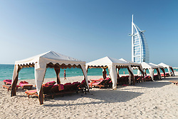 Beach resort beside Burj Al Arab luxury hotel in Dubai United Arab Emirates