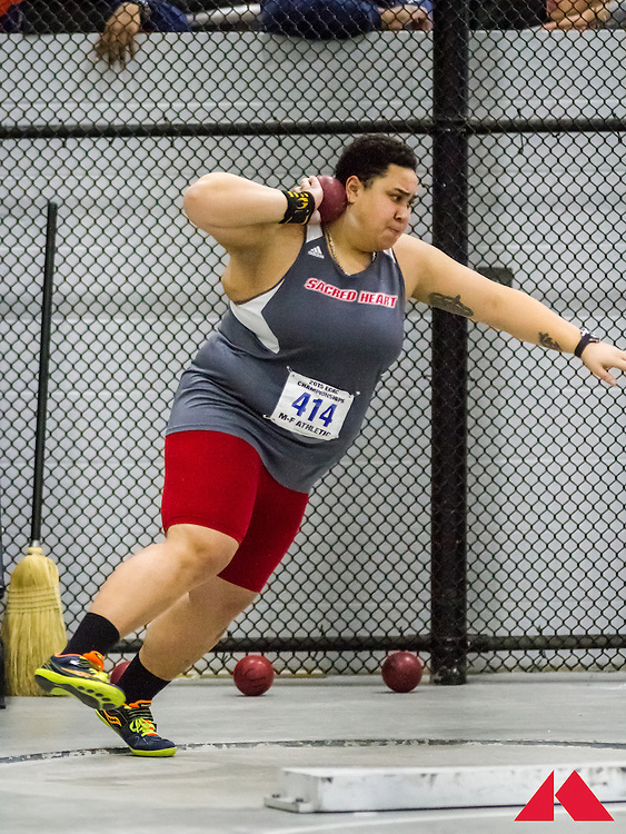 ECAC Indoor Champs, womens shot put, Smith, Sacred Heart