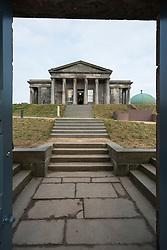 View of the new Collective , centre for contemporary art , at the former City observatory on Calton Hill, Edinburgh, Scotland, UK