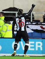 Football - 2019 / 2020 Emirates FA Cup - Fourth Round, Replay: Oxford United vs. Shrewsbury United<br /> <br /> Allan Saint - Maximin of Newcastle celebrates his winning goal in extra time, at the Kassam Stadium (Grenoble Road).<br /> <br /> COLORSPORT/ANDREW COWIE