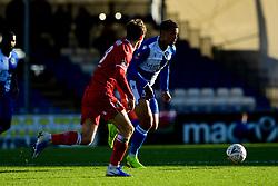 Jonson Clarke-Harris of Bristol Rovers is marked by Frankie Raymond of Bromley - Mandatory by-line: Ryan Hiscott/JMP - 10/11/2019 - FOOTBALL - Memorial Stadium - Bristol, England - Bristol Rovers v Bromley - Emirates FA Cup first round