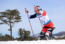 Canada's Steinar Trygave Larsen competes in the Men's 7.5km, Sitting Cross Country Skiing, at the Alpensia Biathlon Centre during day eight of the PyeongChang 2018 Winter Paralympics in South Korea