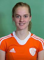 DELFT - Elin vanErk. Nederlands zaalhockeyteam dames voor EK in Minsk. COPYRIGHT KOEN SUYK