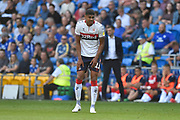Ashley Fletcher (11) of Middlesbrough during the EFL Sky Bet Championship match between Cardiff City and Middlesbrough at the Cardiff City Stadium, Cardiff, Wales on 21 September 2019.