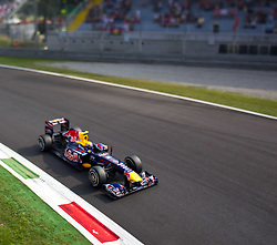 10.09.2011, Autodromo Nationale, Monza, ITA, F1, Grosser Preis von Italien, Monza, im Bild Mark Webber (AUS), Red Bull Racing-Renault TILT AND SHIFT // during the Formula One Championships 2011 Italian Grand Prix held at the Autodromo Nationale, Monza, near Milano, Italy, 2011-09-10, EXPA Pictures © 2011, PhotoCredit: EXPA/ J. Feichter