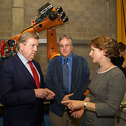03.03.2017        <br /> Minister of State for Employment and Small Business, Pat Breen TD highlighted the growth potential in the aerospace and aviation industries in the Mid West during a recent visit to the University of Limerick. <br /> <br /> Pictured at the event were, Minister of State for Employment and Small Business, Pat Breen TD, Prof. Michael McCarthy and Dr. Ann Ledwith, Director  CPE UL. Picture: Alan Place